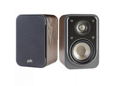 S10 Home Theatre Compact Satellite Surround Speaker Pair Brown