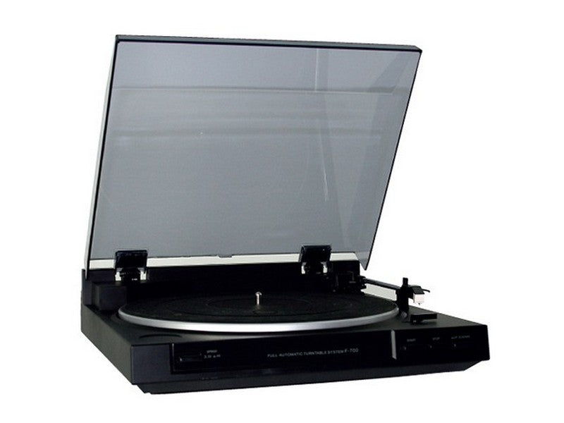 F-700 Fully Automatic Belt Drive Turntable Built-in Preamp Black