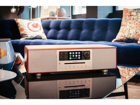 PRESTIGE 2-way all-in-one music system with 4″ subwoofer Walnut