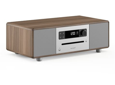 CD Stereo High Quality Digital Radio CD Player with Bluetooth & USB Walnut