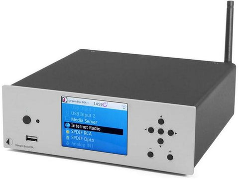 Stream Box DSA Integrated Amplifier Streaming Client Internet Radio Silver