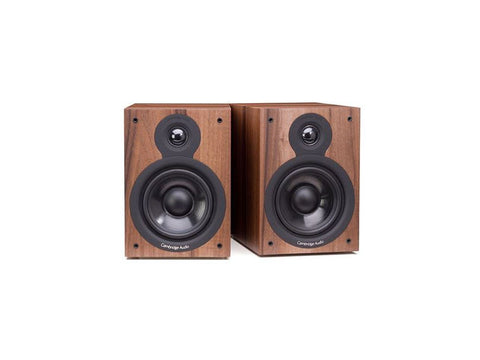 SX50 Two Way Bookshelf Speaker Pair Walnut