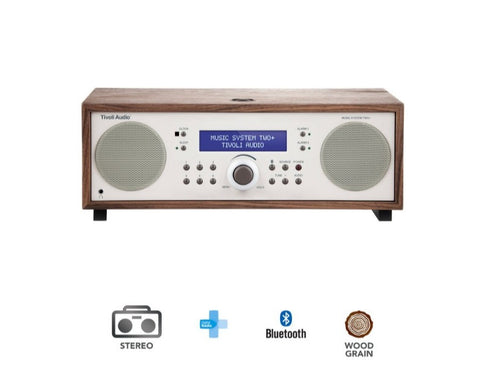 Music System Two+ FM/DAB+ Micro Hi-Fi System with Bluetooth-Walnut Only