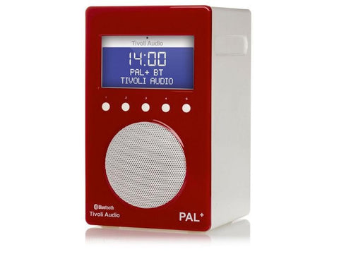 PAL+ BT DAB+/FM Portable Radio with Bluetooth Red