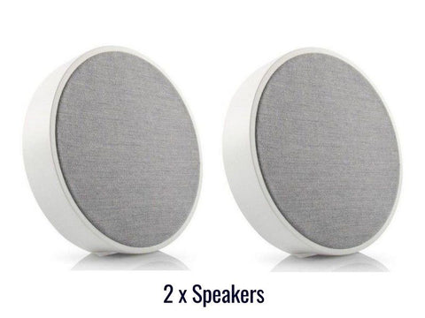 2 x ART ORB Wireless Speakers White