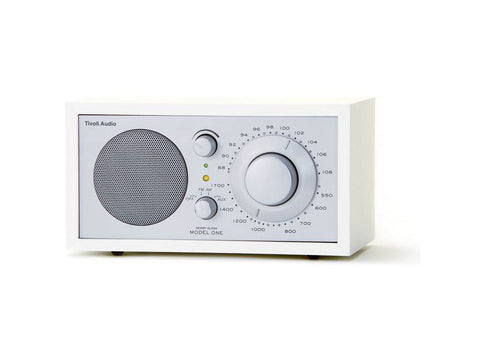 Model One Classic AM/FM Table Radio White Silver