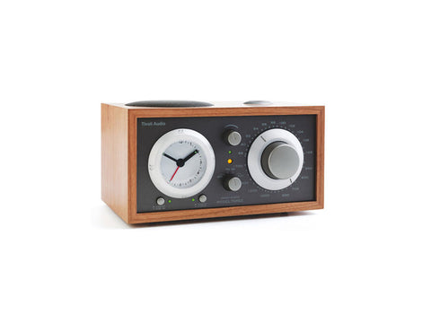 Model Three BT AM/FM Table Radio/Alarm Clock with Bluetooth Cherry Taupe