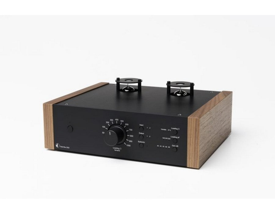 Tube Box DS2 Phono Pre-amplifier Black with Walnut Side Panels