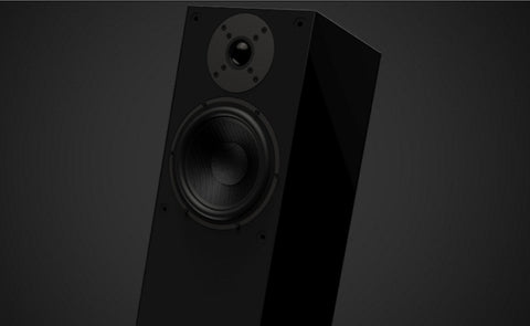 Square 2 Piano Black Floor Standing Loudspeaker Pair - Series 2 - Ex Display