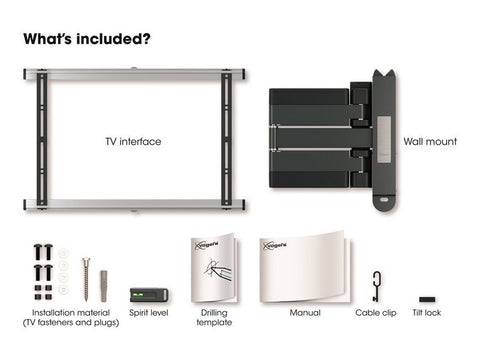 THIN 545 Extra Thin Full-Motion TV Wall Mount White
