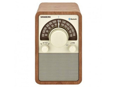 WR-15BT Bluetooth AM/FM Radio Walnut