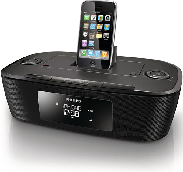 philips dcb242 dab fm alarm clock radio docking station for ipod iphone new ebay. Black Bedroom Furniture Sets. Home Design Ideas