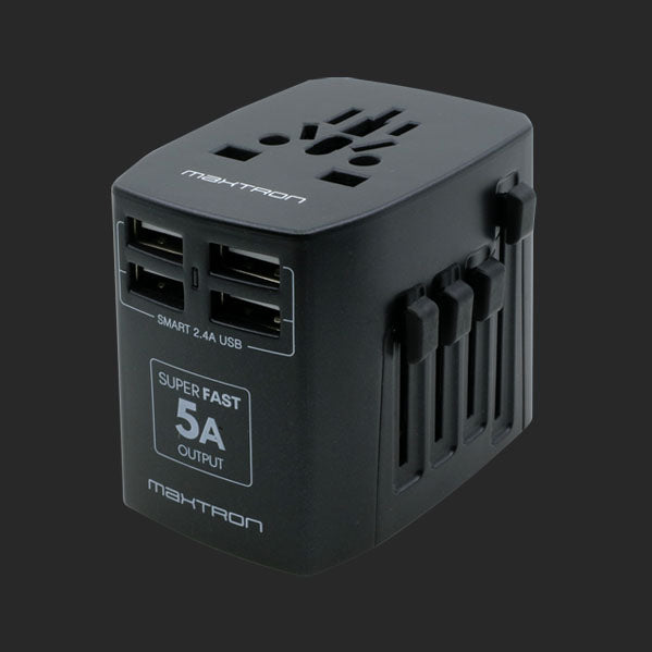 Maxtron UC245 4-Port USB Universal Travel Adaptor