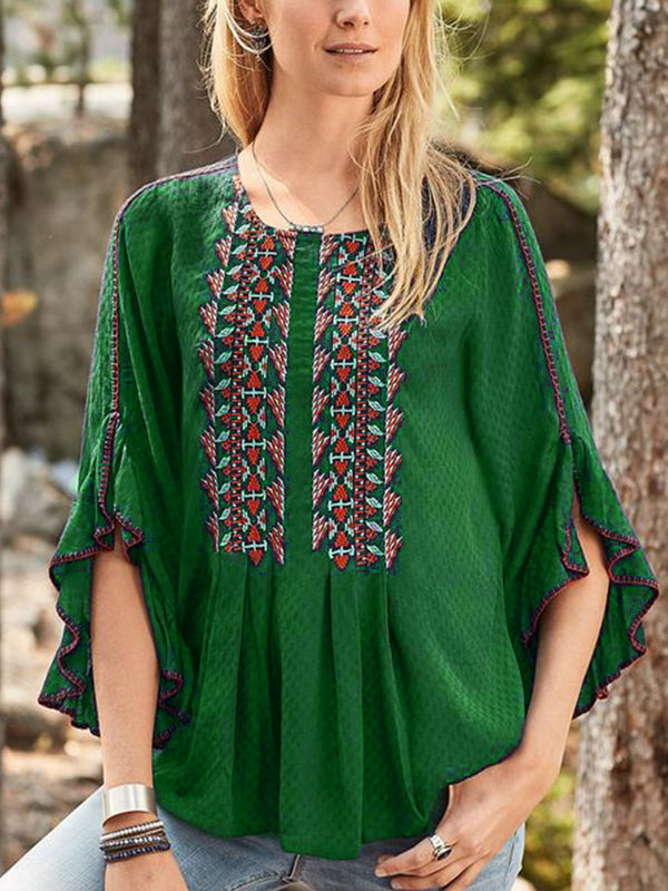 Boho Half Sleeve Shirts & Tops