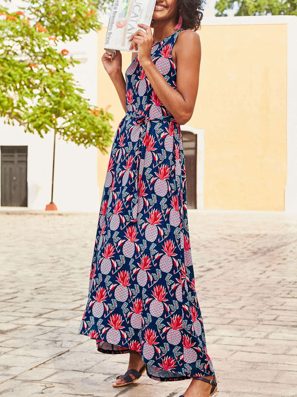 Floral Sleeveless Cotton Dresses