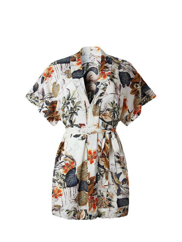 Women's Short Sleeves Floral Printing Casual Summer Dresses