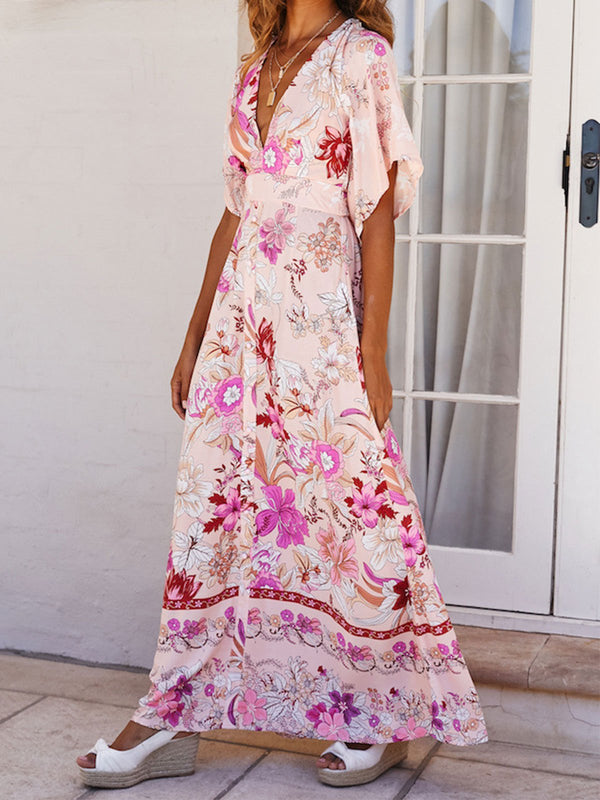 Latest Women Floral Print Maxi Long Dresses