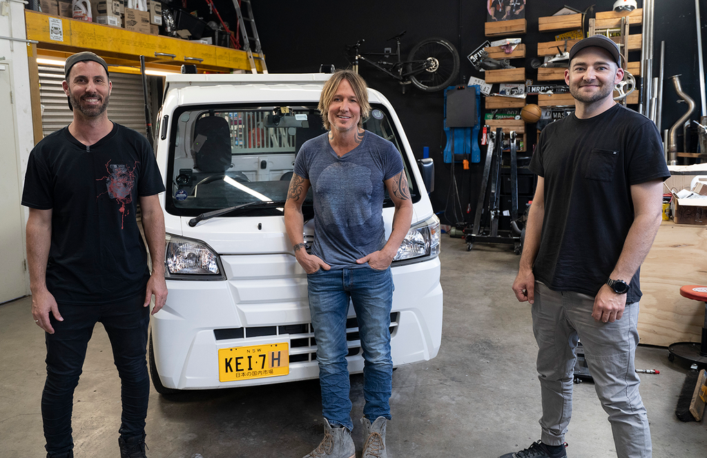 A drive in the the Truck with Keith Urban