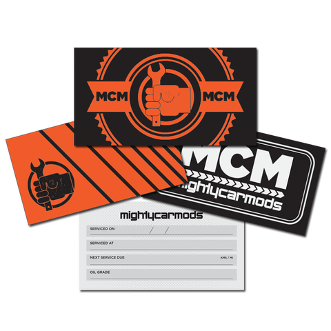 Mighty Car Mods Service Labels - Multipack