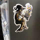 Electric Space Wizard Sticker