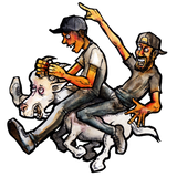 The Goat Rider Sticker
