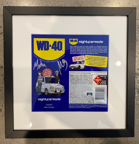 Signed WD-40 can art (Charity)