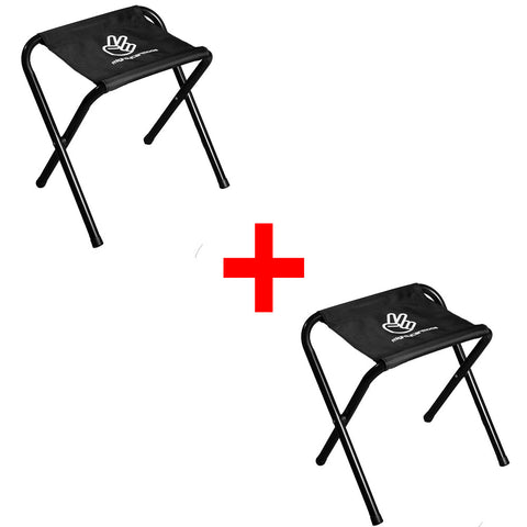 Twin Pack MCM Folding Stool: Max 100kg