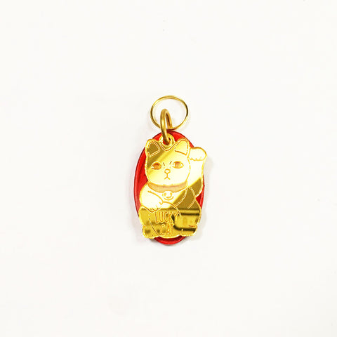 lucky cat dog tag