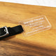 Frosted Acrylic Luggage Tag - Avaloncraftsg