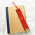 Red - Leather Bookmark