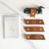 Cognac Brown - Leather Cable Wrap