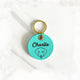 Turquoise Blue - Dog - 3cm Round Pet Tag - Avaloncraftsg