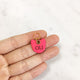 Neon Pink - Cat Head Shape Pet Tag