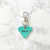 Turquoise  - Dog Shape Pet Tag - Avaloncraftsg