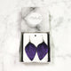 Grape - Leather Leaf Earrings