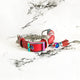 Blossom Red - 2cm Fluxbury Leather Dog Collar (Special - Limited Edition) - Avaloncraftsg