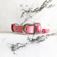 Stardust Pink - 2.5cm Fluxbury Leather Dog Collar (Special) - Avaloncraftsg