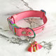 Barbie Pink - Henbury Leather Dog Collar (Rainbow) - Avaloncraftsg