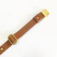 Cognac Brown - Henbury Leather Dog Collar (Gold) - Avaloncraftsg