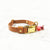 Cognac Brown - Henbury Leather Dog Collar (Gold)