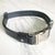 Navy - Henbury Leather Dog Collar (Silver) - Avaloncraftsg