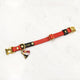 Red/Black - Henbury Leather Dog Collar (Gold)