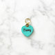 Turquoise Blue - Heart Shape Pet Tag - Avaloncraftsg