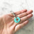 Turquoise Blue - Cartoon Dog I - 2cm Round Pet Tag - Avaloncraftsg