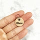 Natural - BKV - 2cm Round Pet Tag