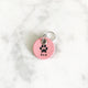 Petal Pink - Single Paw I - 2cm Round Pet Tag - Avaloncraftsg
