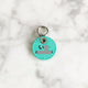 Turquoise Blue - 2cm Star Round Pet Tag - Avaloncraftsg