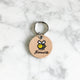 Natural - Bee - 3cm Round Pet Tag - Avaloncraftsg