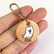 Rose Gold - Samoyed - 3cm Round Pet Tag