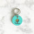 Turquoise Blue - Golden Retriever - 3cm Round Pet Tag - Avaloncraftsg